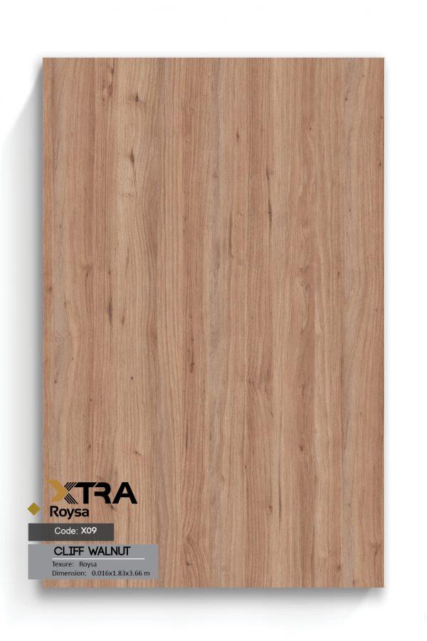 ام دی اف XTRA ROYSA X09 Rockland Walnut Cliff Walnut